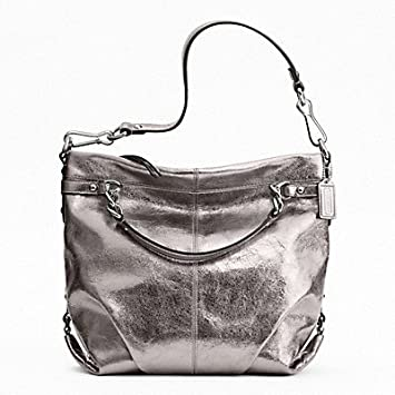 68f7ad22040 Image Unavailable. Image not available for. Color  Coach Large Leather  Brooke Silver F17165