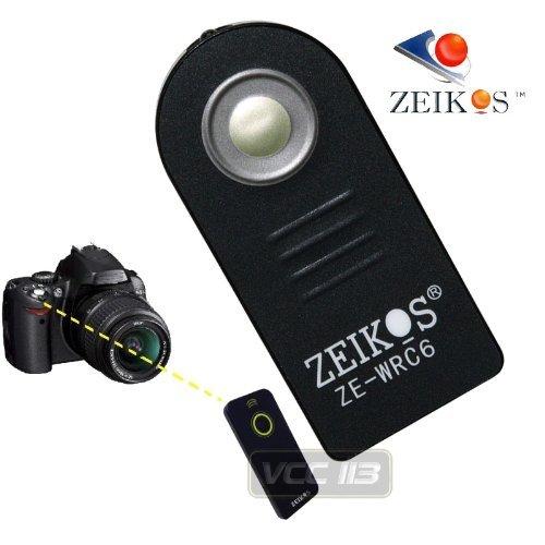 Zeikos ZE-WRC6 RC-6 Wireless Remote Control. Compatible with EOS Rebel SL1, T2i, T3i, T4i, T5i, T6i, T6s, and T7 & anon EOS 5D Mark II, 5D Mark III, 5D Mark IV, 5DS, 5DS R, 6D, 350D, 400D, 450D & 500D