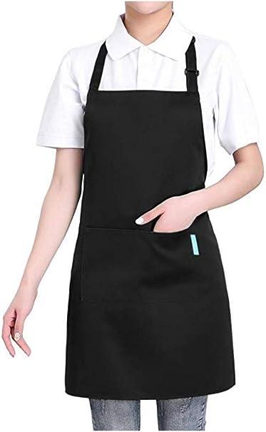 Réglable Étanche Tablier de Cuisine Chef enchérir Avec Poches Unisexe Cooking