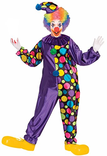 Forum Novelties Men's Purple Polka-Dot Unisex Clown Costume, Multi, Standard
