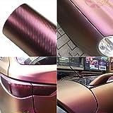 Purple and Coppery Car Chameleon Wrap Auto Carbon Fiber Wrapping Film Vehicle Change Color Sticker Tint Vinyl Air Bubble Free (75CM x 152CM)