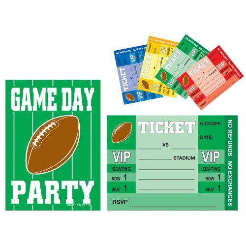 Game Day Football Invitations (8 count)