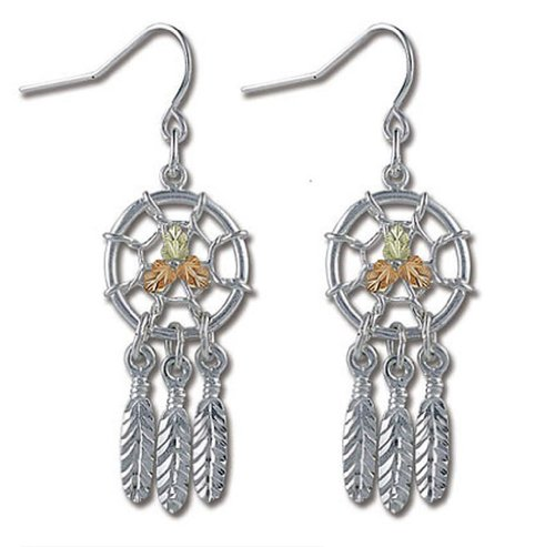 Landstroms Black Hills Silver Dreamcatcher Earrings - MRLER866