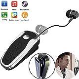 Best Clip On Headphones - Bluetooth Headset Wireless Retractable Headphones Business Earbud Clip Review