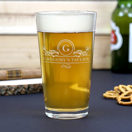 (Personalized 16 oz Tavern Beer Pint Glass)