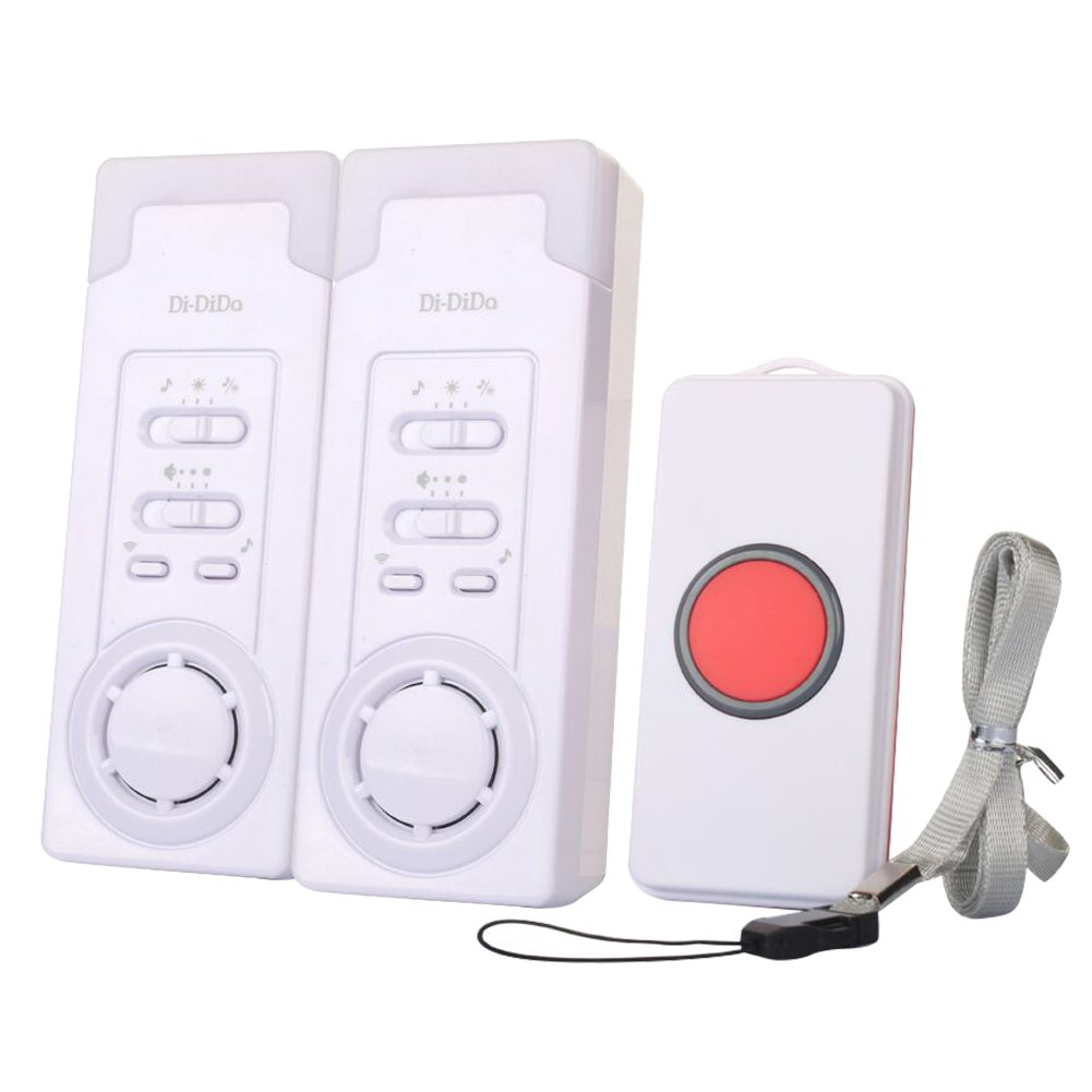 Wireless Smart Caregiver Personal Pager System Emergency Care Alarm Call Button Nurse Alert System With 1 Buttons for Elderly Nurse Patient (1 For 2 ) Beimaji Trade