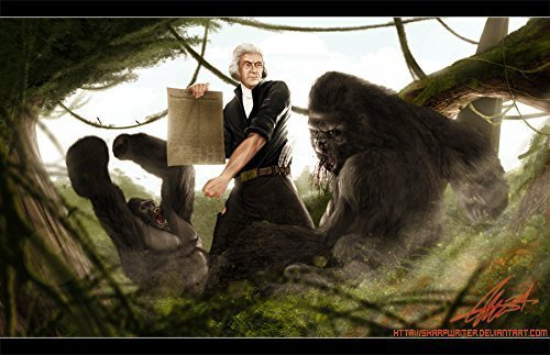 Thomas Jefferson Battling a Gorilla *various sizes available