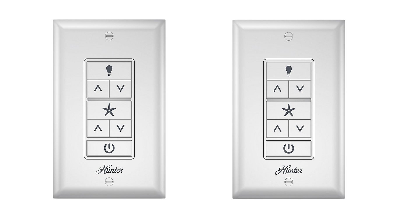 Hunter 99375 Universal Ceiling Fan Wall Control How Do I Know If A With Light And The Switch Are Wired Controlwhite
