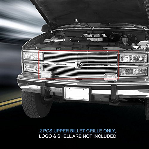 1988 1989 1990 Grille - Fedar Main Upper Replacement Billet Grille Insert for 1988-1993 Chevy C/K Pickup/Suburban/Blazer