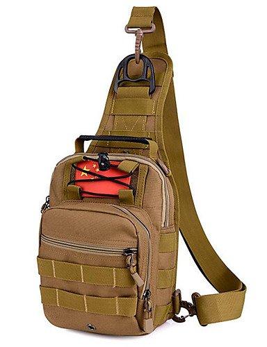 ZQ 5 L Gurttaschen & Messenger Bags Camping & Wandern Draußen Wasserdicht Khaki Nylon