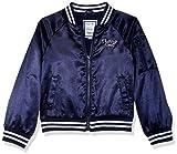 Gymboree Little Girls' Long Sleeve Front Zip Satin Bomber Jacket, Navy...