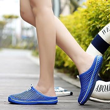 CWJDTXD Zapatillas de verano Zapatos de hombre zapatos de taco zapatos de playa Beiya cabeza grande Baotou sandalias zapatillas ligeras cómodas sandalias ...