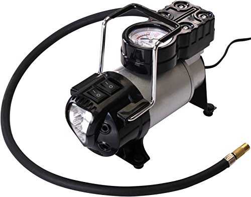 Air Tire Inflator - LED Flashlight Built-In -...