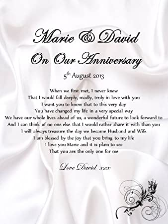 personalised anniversary romantic scroll a5 love letter complete with candle