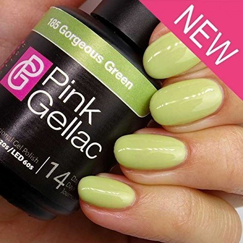 Pink Gellac #185 Gorgeous Green UV / LED Gel Polish