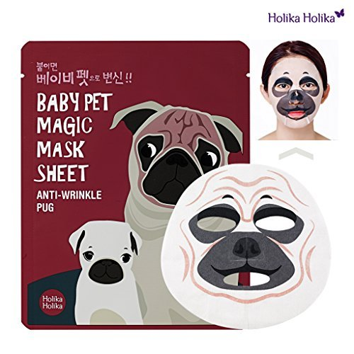 [Holika Holika] Baby Pet Magic Mask Sheet 22ml #Anti-Wrinkle Pug (5 Sheet)