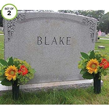 Amazon Com Evelots Cemetery Cone Vases With Stakes 10