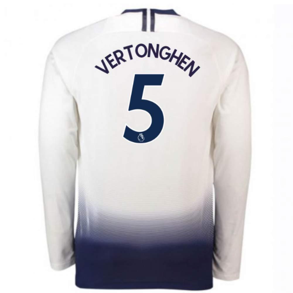 2018-2019 Tottenham Home Long Sleeve Nike Football Soccer T-Shirt Trikot (Jan Vertonghen 5)