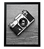 Americanflat 16x20 Black Picture Frame - 1.5'' Wide - Smooth Black Finish; Vertical and Horizontal Hanging Hardware Included