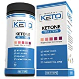 Gebaut by Keto Ketone Strips - Perfect for Ketogenic Diet and Diabetics - Precise Ketone Measurement in 15 Seconds - Supports Ketone Adaptation. Keto, Paleo, or Low Carb Diet - 100 Urine Test Strips
