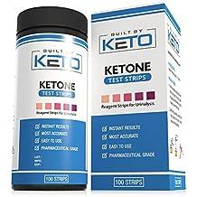Built by Keto Ketone Strips - Perfect for Ketogenic Diet and Diabetics - Precise Ketone Measurement and Supports Ketone Adaptation, 100 Ketone Urine Test Strips