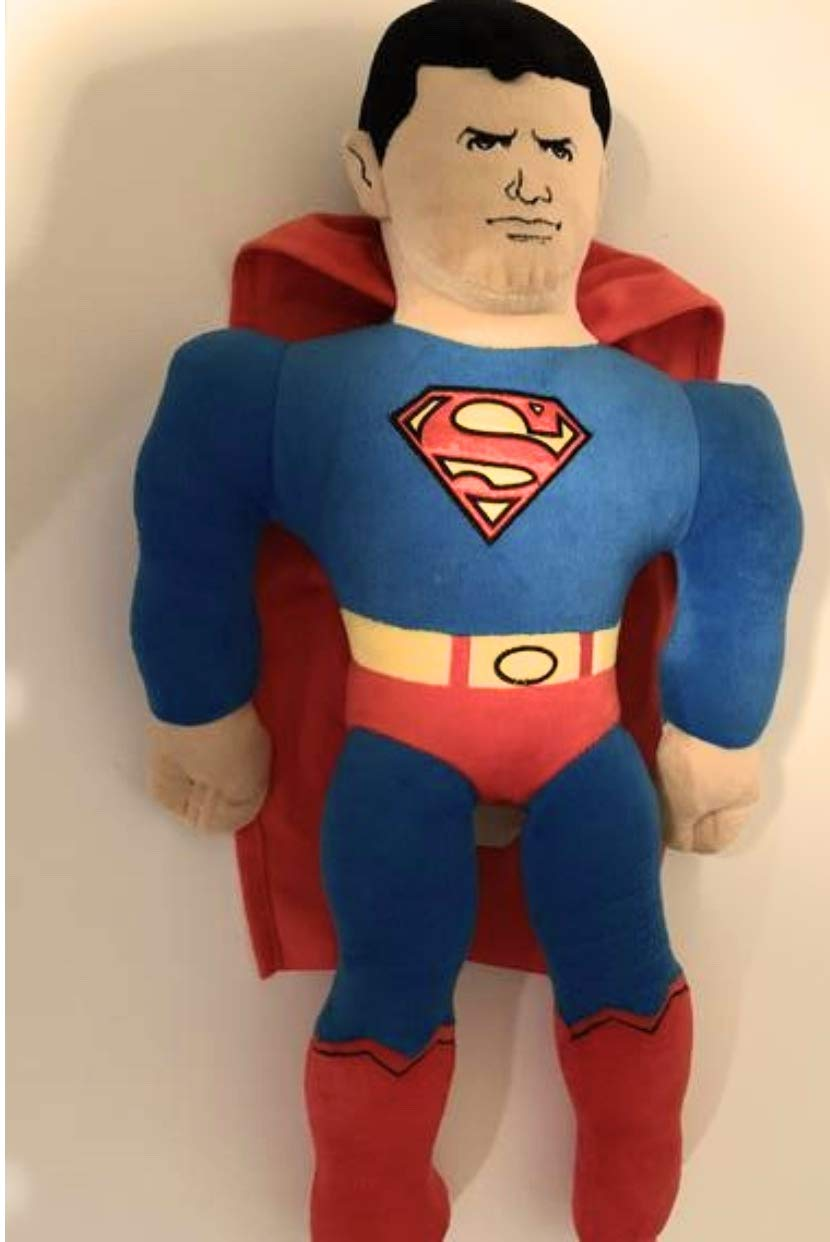 weighted stuffed animal Weighted Superman doll with 6 1//2 lbs sensory toy washable
