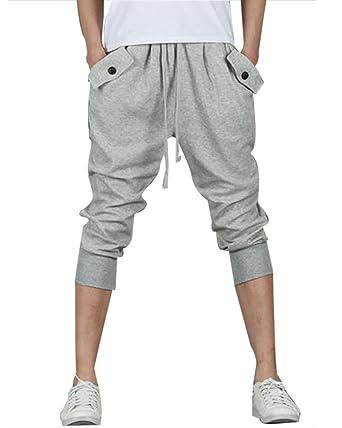 Pantalon de jogging pour homme - Pantalons de sport Sarouel Shorts  Amazon. fr  Vêtements et accessoires d8e52add3a9