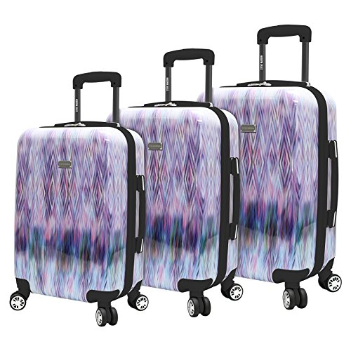 Steve Madden Luggage 3 Piece Suitcase Set With Spinner Wheels (Diamond) ()