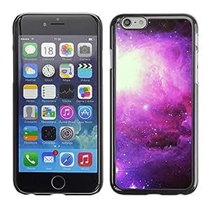 FECELL CITY // Duro Aluminio Pegatina PC Caso decorativo Funda Carcasa de Protección para Apple Iphone 6 Plus 5.5 // Universe Stars Nebulae Cosmos Purple