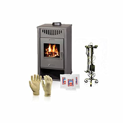 Estufa para quemar madera Victoria 05, modelo Deluxe EB, salida de calor 17 kW