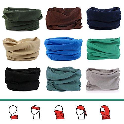 (YOHO BUY 16-in-1 4Pcs&6Pcs Headband Seamless Outdoor Sport Bandanna Head Wrap Scarf Wrap for Yoga Sports,Magic Headband & Collars Muffler Scarf Face Mask with UV Resistance)