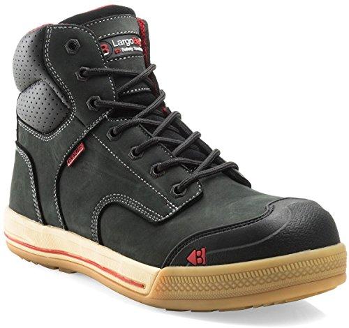 De Homme Chaussures Noir Buckler Pour Sécurité 5q1FwI