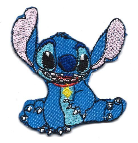(Disney Lilo and Stitch Cartoon Kid patch Symbol Jacket T-shirt Patch Sew Iron on Embroidered Sign Badge Costume )