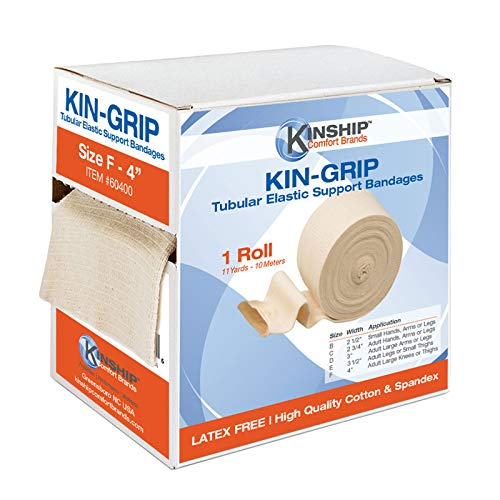 - Kin-Grip Latex-Free Cotton Spandex Tubular Elastic Support Bandages by Kinship Comfort Brands® | Size F (4