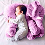 "New Baby Kids Long Nose Elephant Doll Soft Plush Stuffed Toy Waist Throw Pillow Cute ""Purple 5060cm ""No.06"