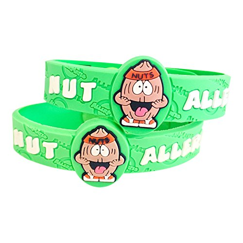Allergy Tree Nuts - AllerMates Kids Medical Wristband - Tree Nut Children's Medic Alert Allergy Awareness Bracelet (2 Pack)