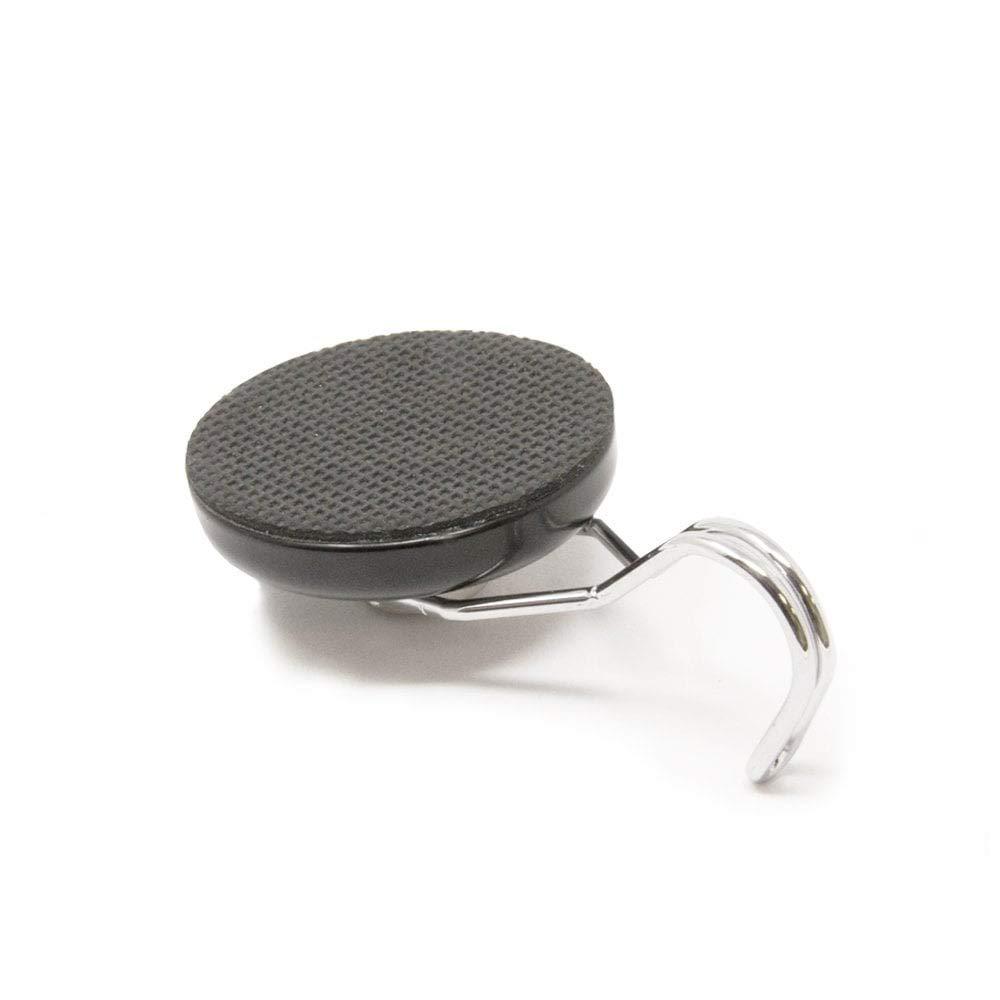 Black Pack of 20 Magnet Expert NPS40R-20 40mm Dia Neodymium Pot Rubber Base and Swivel Hook