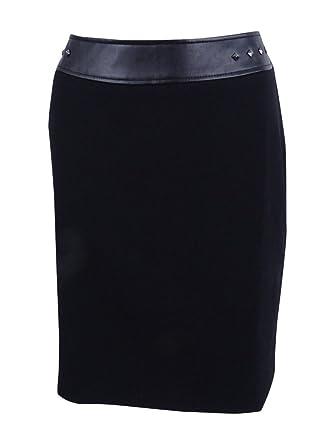 decc7b61c35 Amazon.com  Tahari ASL Women s Plus Size Studded Faux-Leather Pencil Skirt   Clothing