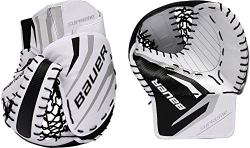(Bauer Senior Pro Series Street Hockey Goalie Trapper (Silver/Black))