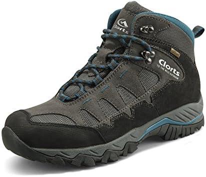 Clorts Men s Mid Hiking Boot Hiker Leather Waterproof Lightweight Outdoor Backpacking Trekking Shoe