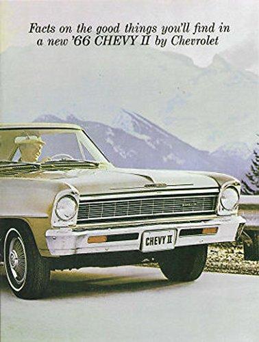 BEAUTIFUL 1966 CHEVY II & NOVA DEALERSHIP COLOR SALES BROCHURE - ADVERTISMENT FOR Custom, SS, Super Sport, Coupe, Sedan. - CHEVEROLET 66 (66 Chevy 2 Nova Ss For Sale)