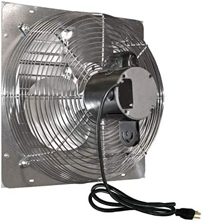 J D Manufacturing J and D VES201C 20 in. Shutter Exhaust Fan with Cord 1-10 Hp