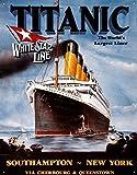 Poster Discount Titanic White Star Line Cruise Ship Retro Vintage Tin Sign - 13x16, 13x16