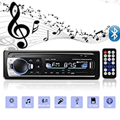 Aigoss Bluetooth Car Stereo, 4x60W Car A...