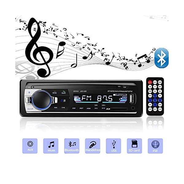 51CqU4qxywL. SS600 - Andven Hands Free Bluetooth Car Radio, Digital Media Receiver, 4 x 60 W 1 DIN Car Radio, USB / SD / AUX / MP3 Player Receiver with Remote Control