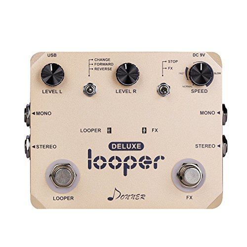 Donner Deluxe Looper Guitar Effect Pedal Loop Station (Pedal Broken Guitar)