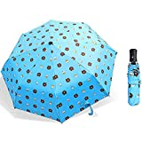 Smartrich Folding Parasols,Compact Cartoon Sun Umbrellas/Men's Ladies (Blue)