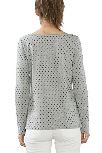 edc by Esprit 027cc1k066, Camiseta para Mujer Gris (Medium Grey 5)