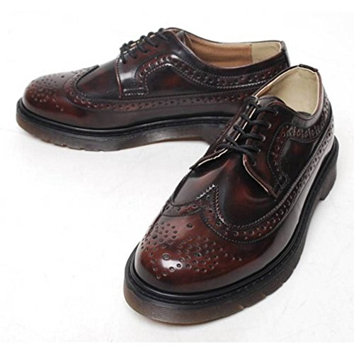 Epicstep Mens Tenue Décontractée Business Formel Wingtip Lace Up Cuir Oxfords Mocassins Chaussures Marron