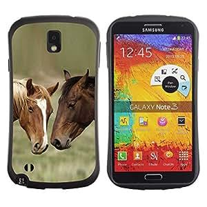 Suave TPU GEL Carcasa Funda Silicona Blando Estuche Caso de protección (para) Samsung Note 3 / CECELL Phone case / / Horse Friends /